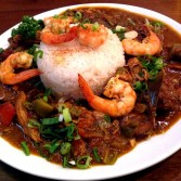 New Orleans Style Gumbo with Shrimp 紐奧良咕布燴飯
