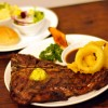 small tbone on plate
