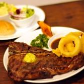 Flame Grilled T-bone Steak 焰火烤厚切丁骨牛排